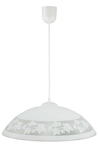 Pendelleuchte Weiß gemustert Schale Küchenlampe Innenlampe Hängeleuchte Hängelampe Pendellampe -