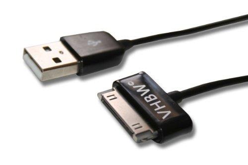 vhbw USB Kabel Datenkabel (Standard-USB Typ A auf Tablet) 2in1 Ladekabel 120cm passend für Samsung Galaxy Tab GT-P3112, GT-P3113 Tablet schwarz Gt-p3113 Tablet