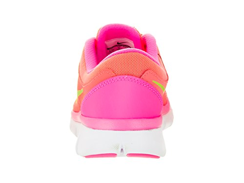 Nike Flex 2015 Rn (Gs), Baskets Basses Mixte Enfant Lava Glow/Pink/White/Lime