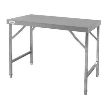 Vogue cb905 tavolo pieghevole in acciaio inox commercio industria e scienza - Tavolo pieghevole con maniglia ...
