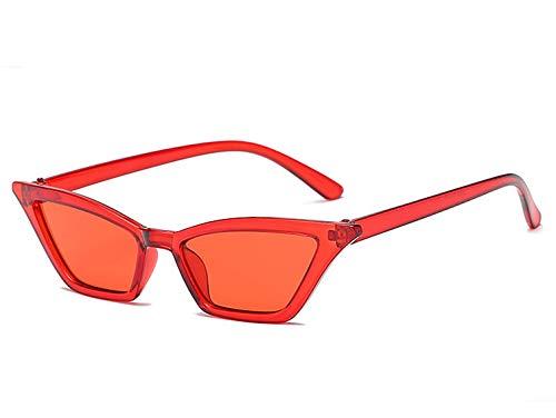 Macxy - Sexy Katzenaugen-Sonnenbrille Frauen Kleine Retro Cateye Red Sun-Glas-Lady 2019 Brillen Shades UV400 Goggles [rot]
