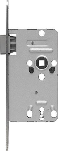 ABUS Tür-Einsteckschloss mit Buntbartschlüssel TK10 S L silber für DIN-links Türen, 20821