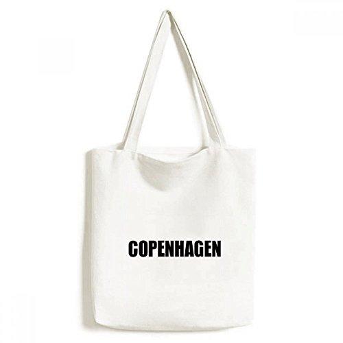 DIYthinker Kopenhagen Dänemark Stadt Namen Environmentally-Tasche Einkaufstasche Kunst Waschbar 33cm x 40 cm (13 Zoll x 16 Zoll) Mehrfarbig