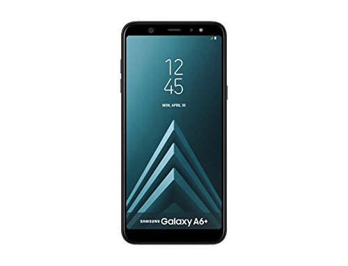 "Samsung Galaxy A6 Plus Smartphone, 6.0"", NanoSIM, 32 GB, 4G/LTE Cat6 300/50 Mbps, Processore Octa Core 1.8 GHz, Dual SIM, Black - Italian Version"