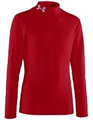 UNDER ARMOUR EVO ColdGear Camiseta Junior, Rojo, Junior XL