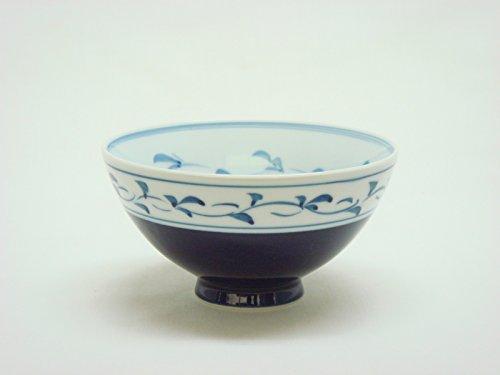 Tateyama-Do Hasami Vaisselle Japonaise Bol à Riz Grand '' Hotaru Medaka '' fabriqué au Japon DSCO3247