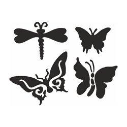 EULENSPIEGEL 108239 - Selbstklebe Schablonen Set Butterfly