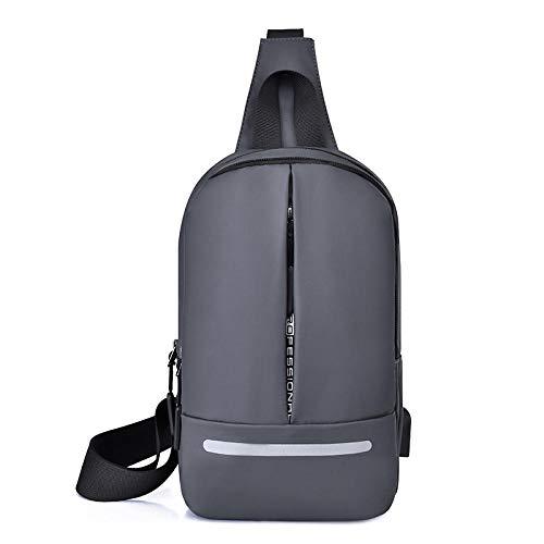 YZJLQML Ladies bagSimple Männer Umhängetasche Brusttasche Männer und Frauen Mode Sport im Freien Anti-Diebstahl-Klassiker Messenger Bag -grgy