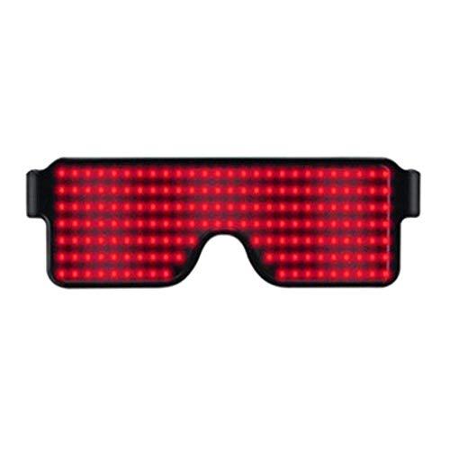 MAyouth Light Up Brille Flashing Shutter Neon Leuchtende Gläser Multicolor Led Leuchtende Gläser Mit 8 Modi Für Party Weihnachten Geburtstag
