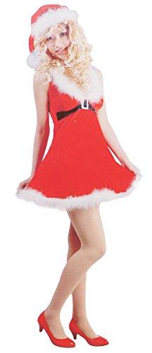 Weihnachtsmann Muster Kostüm (Miss Stanta Sexy Weihnachtsmann für die Weihnachtsfeier Fasching oder Party - verschiedene Modelle (Muster)