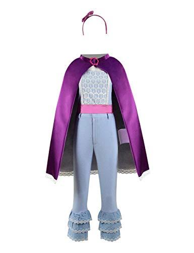 Zhangjianwangluokeji Toy Bo-Peep Rose Roter Mantel Cosplay Kostüm für Halloween (Kleine Mädchen 2T, Farbe 1)