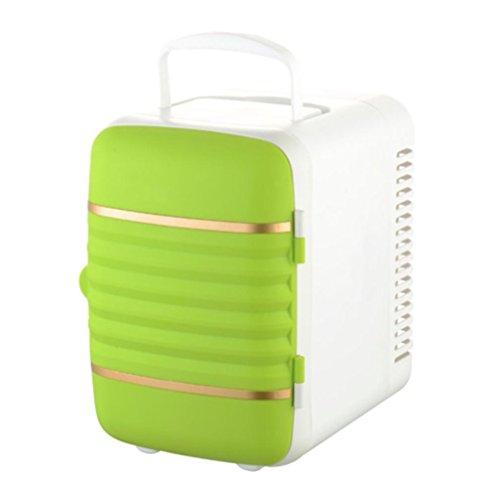 XW 4L Mini-Auto Kleinen Kühlschrank Auto Haus Dual-Use-Kühl-Speicher Heizung Isolierung Auto Kühlschrank , Green,green