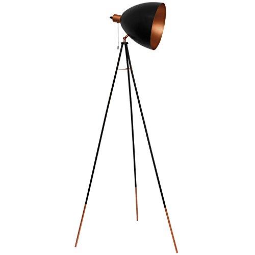 Studiolampe Standleuchte (Stehlampe kupfer/schwarz)