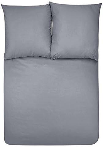 AmazonBasics Parure de lit avec housse de couette en microfibre, 200 x 200 cm - Gris foncé