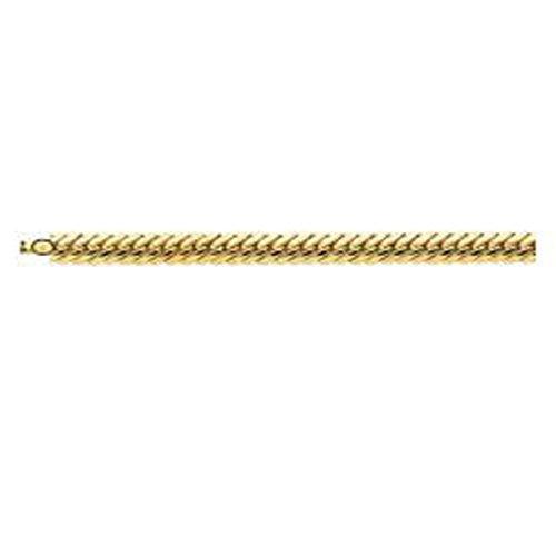 Ysora - Bracelet En Or Jaune Avec Maille Anglaise Et Fermoir à Cliquet Pour Femme - 750 ‰ - 18 cm