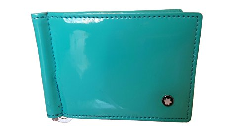 Just Click Fashion Aqua Green Synthetic Leather Money Clip Wallet For Men's  available at amazon for Rs.499