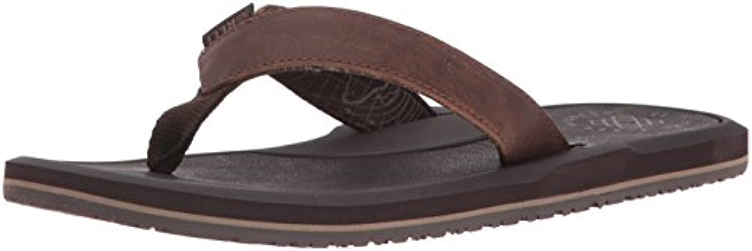 Reef Herren Machado Night Brown Zehentrenner