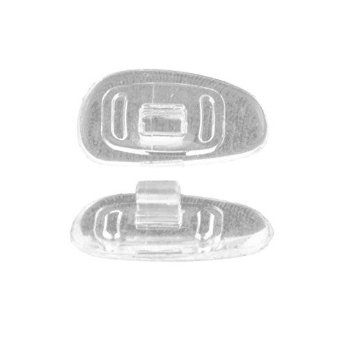 Edison & King Nasenpads für Brillen zum Austauschen - Brillenpads, Nasenauflage, Silikonpads, Titanpads - Verschiedene Formen, Größen, Materialien (weich, Classic, gesteckt)