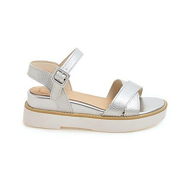 Enochx Donna Sandali Estate Gladiator Casual in Similpelle Tacco a cuneo  Silver ...