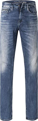 Calvin Klein Jeans Herren Jeans Denim-Hose, Größe: 33/34, Farbe: Blau - Calvin Klein Herren-stoffhosen