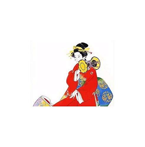 zlxzlx (Kein Rahmen) Japanisches Kostüm Kimono Schönheitsfarbe Nach Zahlen Leinwand Gemälde Handgemaltes Digitales Japan Wandkunst Bild Für ()