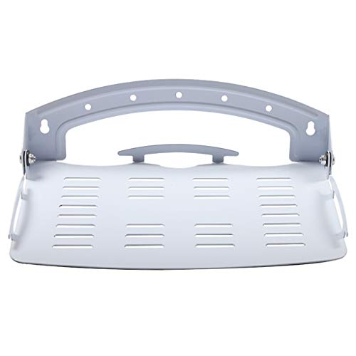 Top-komponente Regal (Regal Schwimmendes Regal Falten Komponente Regale zum Set-Top-Boxen Kabelboxen Empfänger DVD Fernseher Wandhalterungen (Farbe : Weiß))