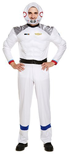 (Astronaut Herren Kostüm Astronaut Fach Uniform Sci Fi Erwachsene Kostüm Outfit)