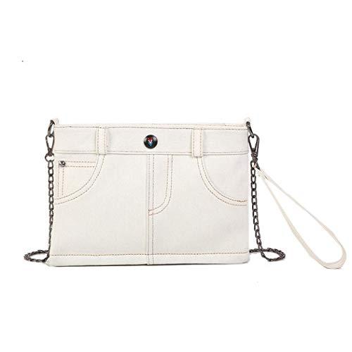 Simanli Designer-Handtaschen für Damen, Denim-Handtasche für Damen, New Look Crossbody-Tasche Gr. One size, gebrochenes weiß -