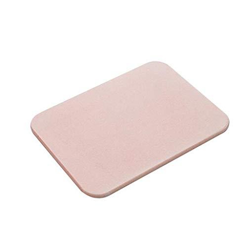 Trocknung Küche Matte (SLIANG Einfache Diatomeen-Matten Hause Schlafzimmer Türmatten Küche Badezimmer Anti-Rutsch-Matte 60 * 40cm (Farbe : Pink))