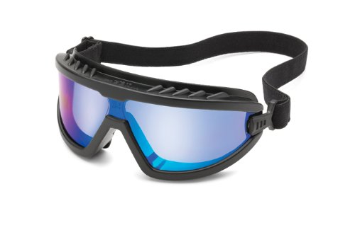 Blue Schutzbrille Mirror (Gateway Sicherheit Wheelz Stylisch und bequem Sicherheit Goggle, Universal, Blue Mirror Anti-Fog Lens, 1)