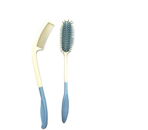 MEYLEE Lange Reichweite, Lange Behandelte Bürste, Air Bag Multi-Zahn Massage-Kamm,C