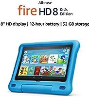 "All-new Fire HD 8 Kids Edition tablet   8"" HD display, 32 GB, Blue Kid-Proof Case"