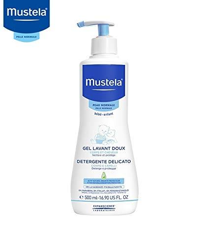 Mustela Bagno Gel Dermo-Detergente, Lavaggio Corpo e Capelli Bambino Neonato - 500 ml