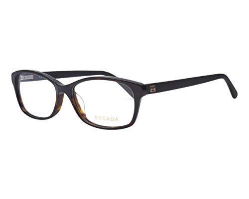 Escada Brille (VES-257 0722) Acetate Kunststoff havana dunkel - schwarz matt