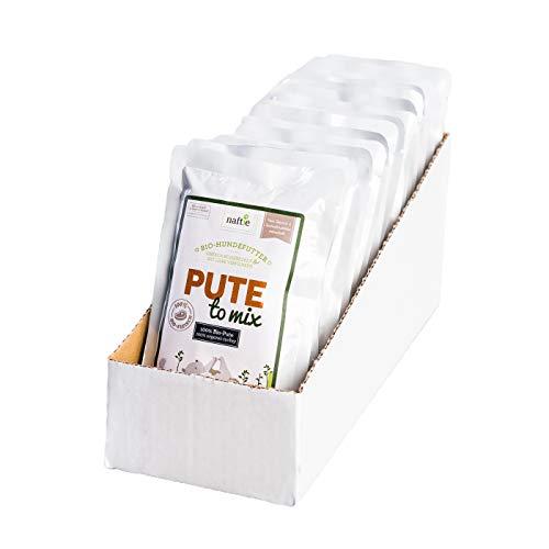 naftie Bio Hundefutter PUTE to Mix 15x150g Beutel Nassfutter 100% Putenfleisch getreidefrei...