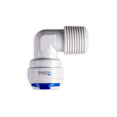 PureOne qf-100 de 02B Quick Mamelon – connecteur rapide 1/4 sur 1/2 (AG). Modèle : Coude | en forme de L. Tuyau d'accessoires pour inversion de Systèmes Osmose, installations d'eau ou réfrigérateur