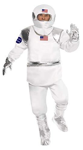 US Astronaut Kost�m deluxe 3-teilig Kosmonaut Raumfahrer Herren Gr. M (Kosmonauten Helm Kostüm)