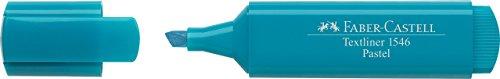 Faber-Castell 154658-Scatola con 10Evidenziatori Textliner 1546Pastello, Colore: Blu Turchese