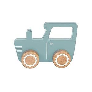 Little Dutch 4377 vehículo de Juguete Madera - Vehículos de Juguete (Azul, Blanco, Tractor, Madera, 1 año(s), 45 mm, 13,5 cm)