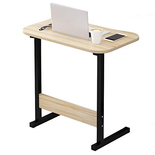 Gy capezzale tavolo porta computer portatile, postazione di lavoro mobile in piedi, pannello di legno, multifunzione domestico portatile tavolino vassoio, 4 colori, 60 * 40cm (colore : naturale)