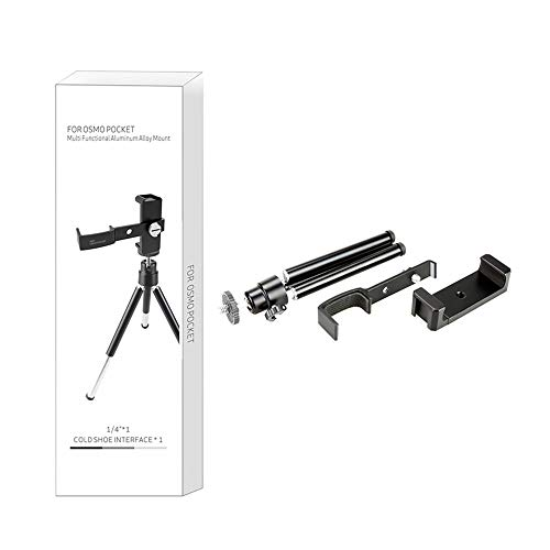 BFHCVDF Tripod Mount Extension Phone Holder Expansion Fixed Bracket Selfie Stick Rod Black