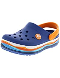 1bd26a8229b0 Crocs Kids - Crocband Wavy Band Clog - Blue Jean