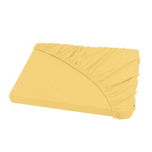 Sábana Ajustable - todos los tamaños y colores - 100% algodón - 180 a 200 x 200 cm - amarillo