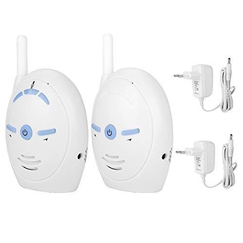 Monitor de intercomunicador inalámbrico para bebés, Monitor de Audio Digital inalámbrico de 2,4 GHz...
