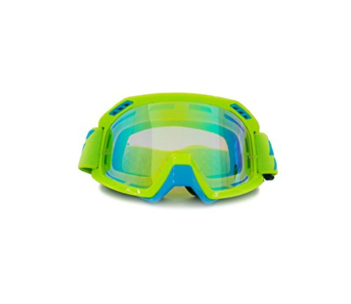 MEI Goggles Skibrille Staubdichte Motocross Brille Produkt Maße: 9.1in * 3.9in,Yellow