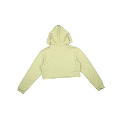 Malloom Pull De Sport Tops Femmes Capuche Pull Crop Top Coat Sweatshirt Kaki