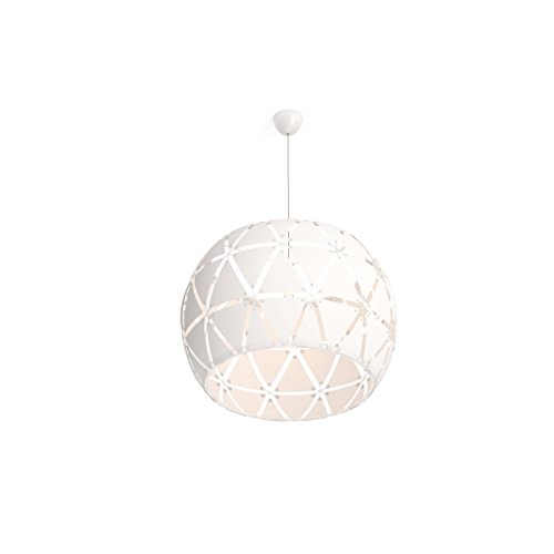 Philips Smart Volume Sandalwood Lampadario a Sospensione, 80 cm, Bianco