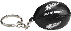 Gilbert - Llavero con miniatura de balón de rugby relleno de esponja del equipo neozelandés All Blacks