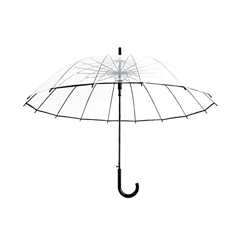 HeWan Regenschirm-Halbautomatische durchsichtige Regenschirme zum Schutz vor Wind und Regen Langgriffschirm Clear Field of Vision, B