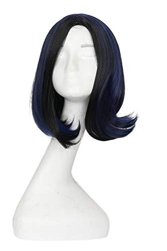 Dailygocn Movie Raven Perücke Markieren Lockig Bob Wig Voller Kopf Haar Cosplay Zubehörteil für Halloween Fancy Dress ()